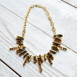 Gold Stone Statement Chain Necklace